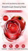 Fonce Red Wine Essence Facial Mask 100g Whitening Cream Moisturizing Night Cream Anti Aging Brighten Face Sleeping mask