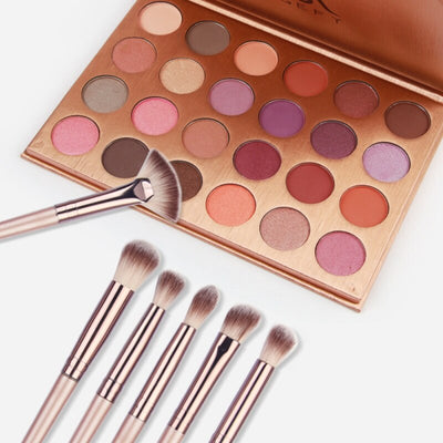 Hot Sale 24 Colors Eyeshadow Palette + 12Pcs Eye Makeup Brushes Makeup Sets For Face Foundation Eyes Makeup