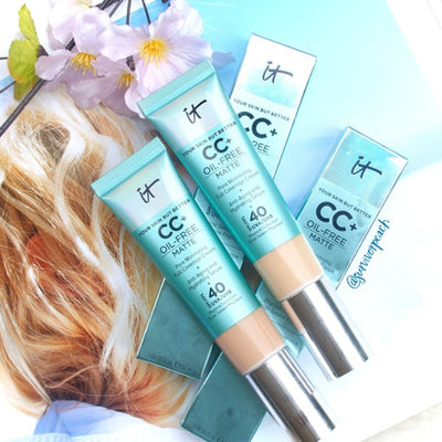 It Cosmetics Concealer Cream Matter Oil Control Makeup Base Full Cover Dark Circle Eyes SPF 40 Make Up Skin Brighten CC Cream