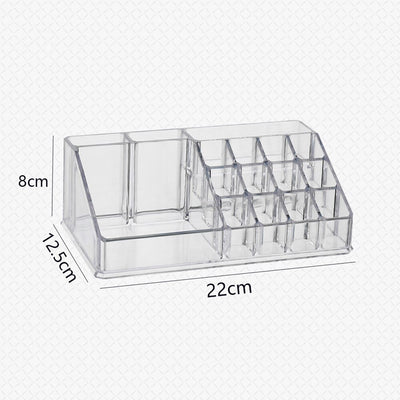 Makeup Organizer Acrylic Transparent Cosmetic Box Make Up Storage Lipstick Cosmetic Brush Holder Home Office Desk Organiser