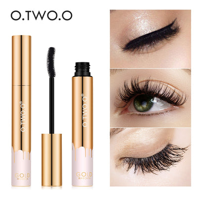 O.TWO.O 3D Mascara Lengthening Black Lash Eyelash Extension Eye Lashes Brush Beauty Makeup Long wearing Gold Color Mascara