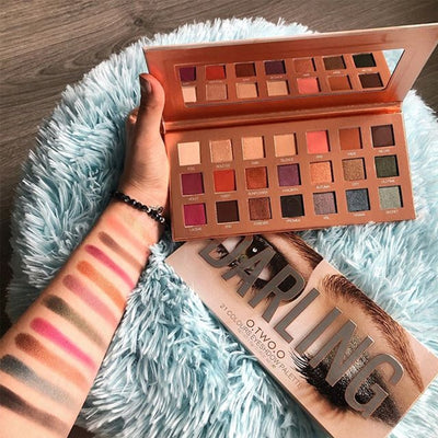 O.TWO.O Darling Eyeshadow Palletes 21 Colors Ultra Fine Powder Pigmented Shadows Glitter Shimmer Makeup Eye Shadow Palette