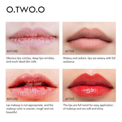 O.TWO.O Moisturizing Lip Balm Lip Scrub Makeup Anti Aging Exfoliating Full Lips Remove Dead Skin Nourishing Lips Care
