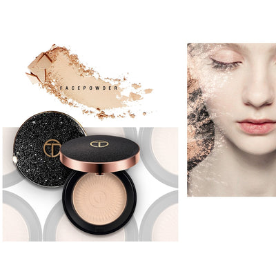 O.TWO.O Natural Face Powder Mineral Foundations Oil control Brighten Concealer Whitening Make Up Pressed Powder With Puff
