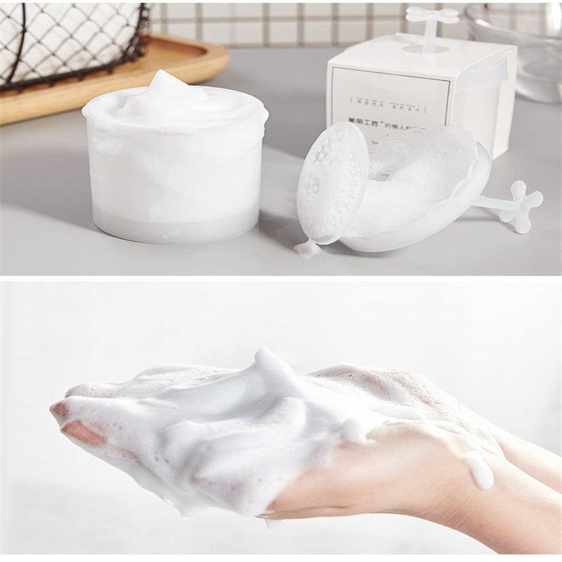Portable Foam Maker Foam facial cleanser Cup Body Wash Foaming Cup Bubble Maker Washing Flask For Travel Make Up Facial Cleanser