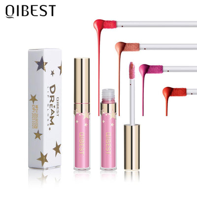 QIBEST Liquid Lipstick Lip Gloss Matte 24 Colors Sexy Batom Lips Makeup Cosmetic Long Lasting Lip Tint Waterproof Lipgloss