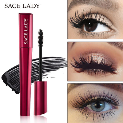 SACE LADY makeup 4D Lash Mascara Waterproof Mascara Eyelash Extension Black Thick Lengthening Eye Lashes Cosmetics