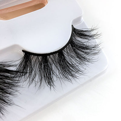 SEXYSHEEP 3Pair 25mm 5D Real Mink Eyelashes 100% Cruelty free Lashes Reusable Natural False Eyelash curler Popular Lashes Makeup