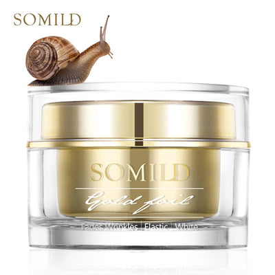 SOMILD 24K Gold Face Cream Snail Essence Anti Aging Skin Care Wrinkle Blemish Remove Korean Cosmetics Eye Cream