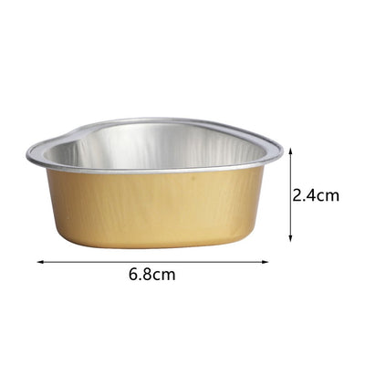 Heart Shape Melting Wax Bowl Aluminum Foil Hair Removal Bean Depilatory Cream Bowl Heart Shape For Hot Film Hard Waxing