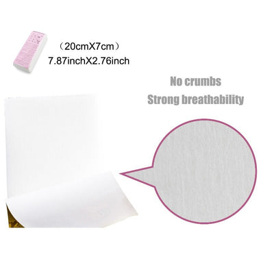 100 Pcs/Set Depilatory Papers Nonwoven Cloth For Face Neck Arm Leg Body Hair Removal Wax Paper Beauty Tools High Quality