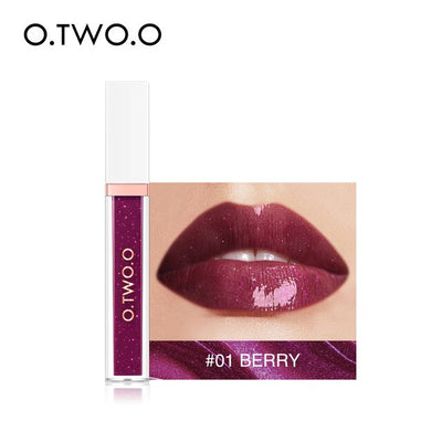 O.TWO.O Mirror Glass Lip Gloss Moisturizing Light Gel No Sticky Shimmer Lipstick Liquid Makeup 7 Color Lipgloss