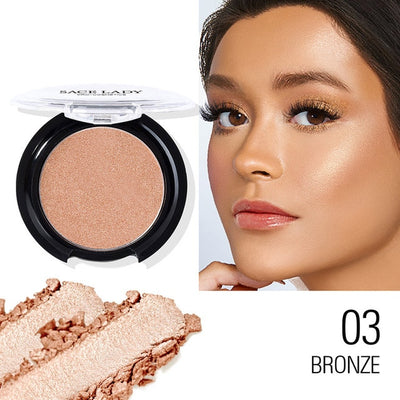 SACE LADY 6 Color Highlighter Powder Glitter Palette Makeup Glow Face Contour Shimmer Illuminator Highlight Cosmetics