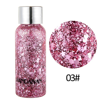 HANDAIYAN 8 Colors Glitter Shiny body Painting Eye Shadow Gel Cream Face Shimmer Body Art Festival Party Eyes Makeup