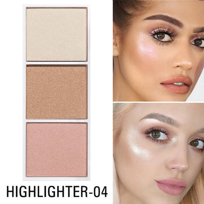 SACE LADY 4 Colors Highlighter Palette Makeup Face Contour Powder Bronzer Make Up Blusher Professional Blush Palette Cosmetics