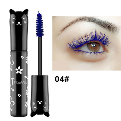 five colors mascara waterproof long lasting eyelashes easy to remove mascara beauty purple gradient blue mascara women