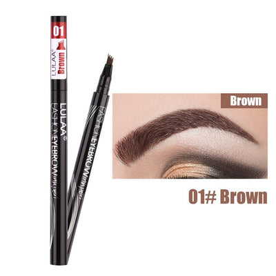 New Liquid Eyebrow Pencil Waterproof Microblading Eye Pencil Fork Tip Fine Sketch Eye Brow Tattoo Tint Pen Beauty Cosmetics