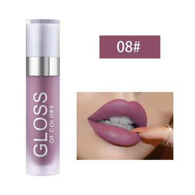 15 Colors Matte Lip Gloss Lasting Moisturizing Shiny Shimmer Pigment Makeup Lip Tint Sexy Liquid Lipstick Cosmetic