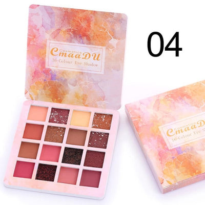 Nude Glitter Eyeshadow Matte Shimmer Palette Long Lasting Waterproof Mineral Powder Eye Shadow Makeup Cosmetic Kit