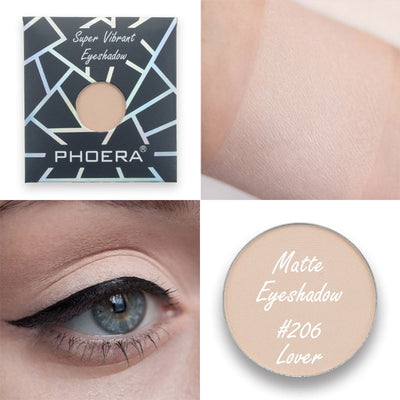 PHOERA 1Pc Natural Matte Eyeshadow Palette Waterproof Long Lasting Nude Eye Shadow Pigments Smoky Eye Cosmetic