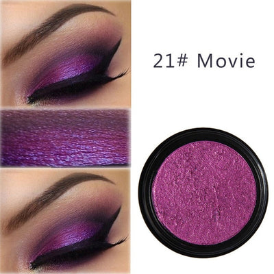 PHOERA 24 Colors Smoky Eyes Makeup Cosmetics Glitter Eyeshadow Palette Metal Eyes