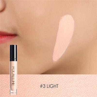 FOCALLURE Eye Concealer & Base 7 Colors Full Coverage Suit for All Color Skin Face/Eye Makeup Liquid Concealer