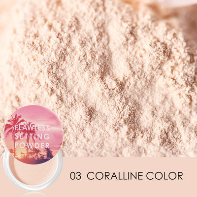 FOCALLURE New Top Quality Loose Powder Translucent Light Smooth Setting Powder Waterproof Oil control Velvety Face Makeup