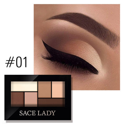 SACE LADY Matte Eyeshadow Palette MakeUp 8 Colors Glitter Eye Shadow With Brush Make Up Long Lasting