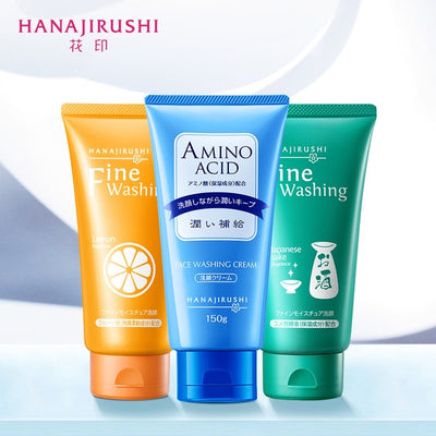 HANAJIRUSHI Vitamin C Facial Cleanser Limpiador Whitening Brightening Face Wash Skin Care Deep Cleansing Pores Care 120g