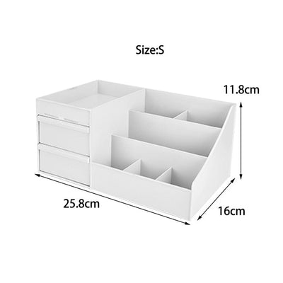 Large Capacity Cosmetic Storage Box Makeup Drawer Organizer Holder Desktop Sundries for Brush Jewelry Nail Polish Container