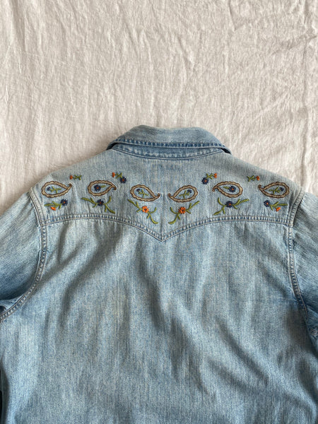 Lucky Embroidered Western Shirt
