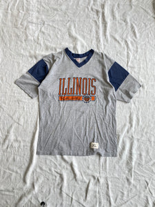 Striped University of Illinois V-Neck Jersey