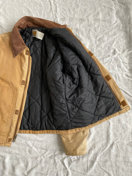 Tan Carhartt Quilted Jacket Size M
