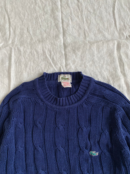 Navy Cable-knit Lacoste Sweater