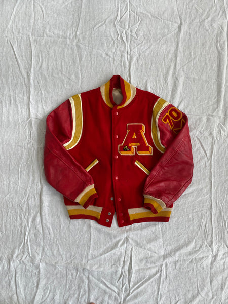 70s Red Varsity Jacket Size M