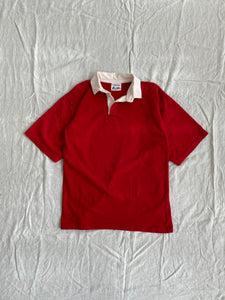 Red Short Sleeve Rugby Size L