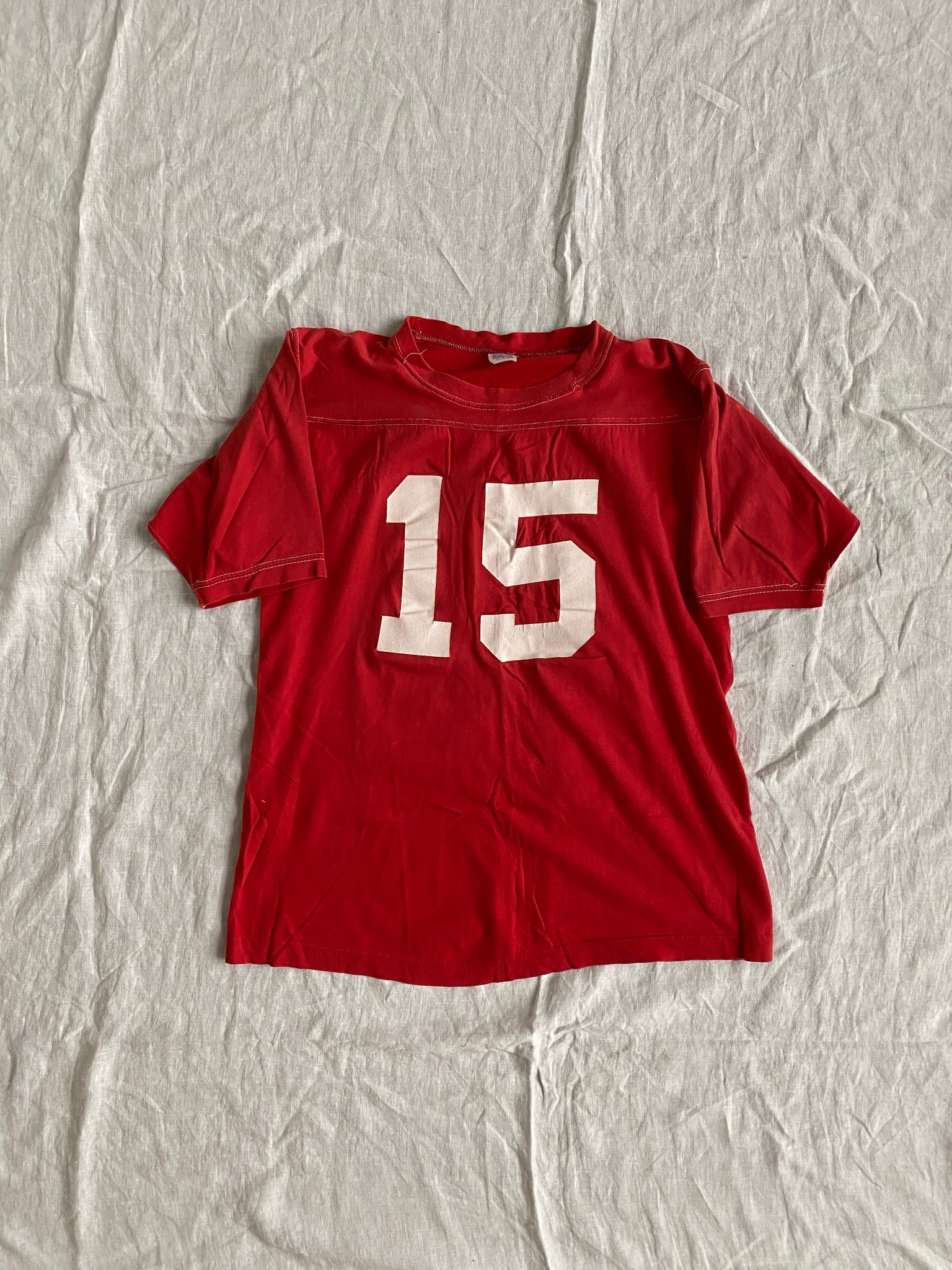 70s Red Short Sleeve Jersey Size M