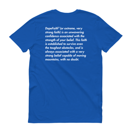 Dope Faith® Logo Definition Tee (Marathon Blue)