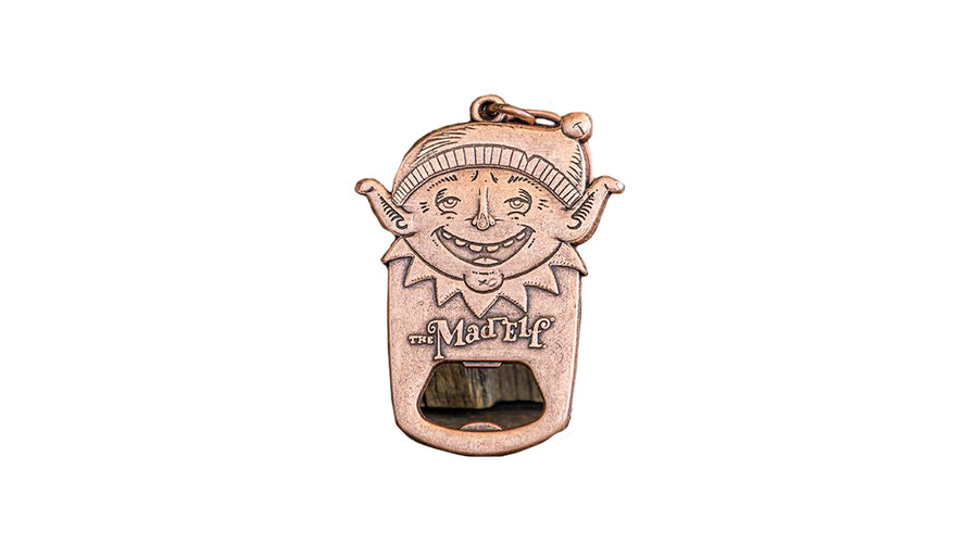 Mad Elf Keychain Bottle Opener