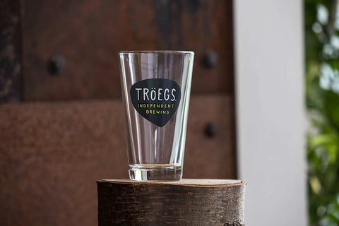 Troegs Logo Pint Glass
