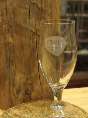 Tröegs Logo Wheat Glass