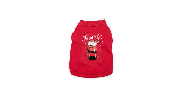 Mad Elf Dog T-Shirt
