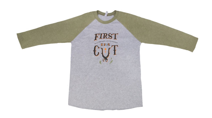 First Cut 3/4 Sleeve Baseball T