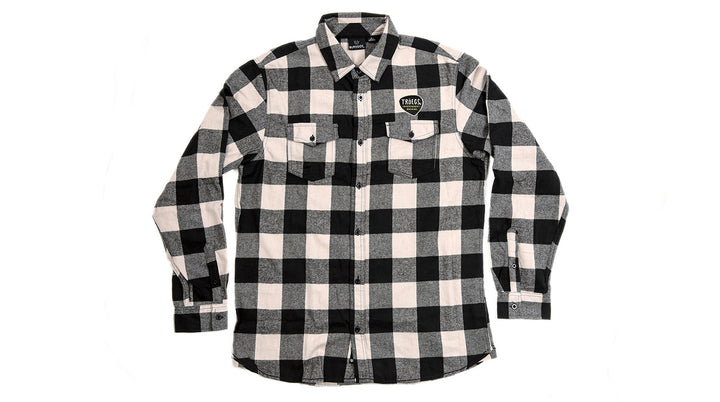 Troegs Black Plaid Flannel Shirt