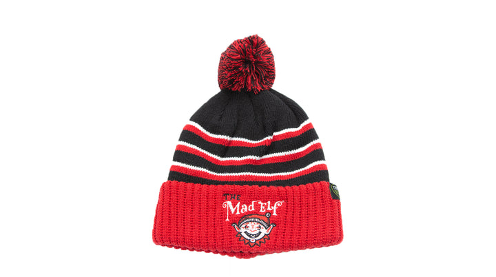 Hat - Mad Elf PomPom Beanie