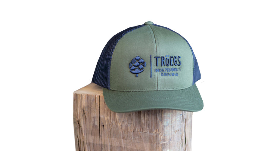 Tröegs Logo Olive and Black Mesh Hat