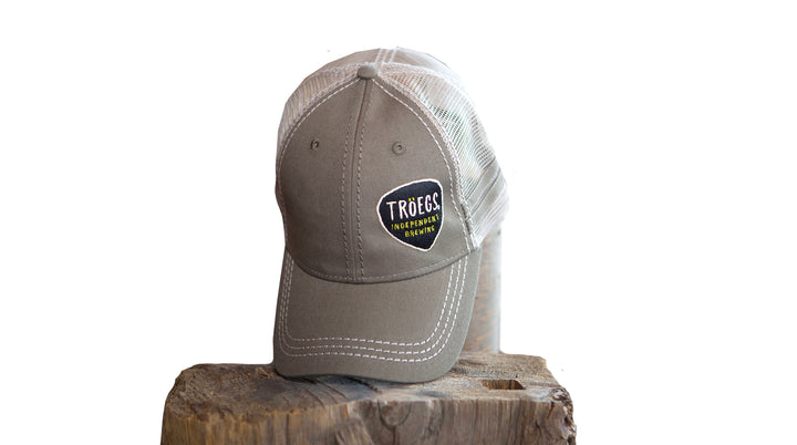 Tröegs Logo Mesh Hat - Military Green/Tan