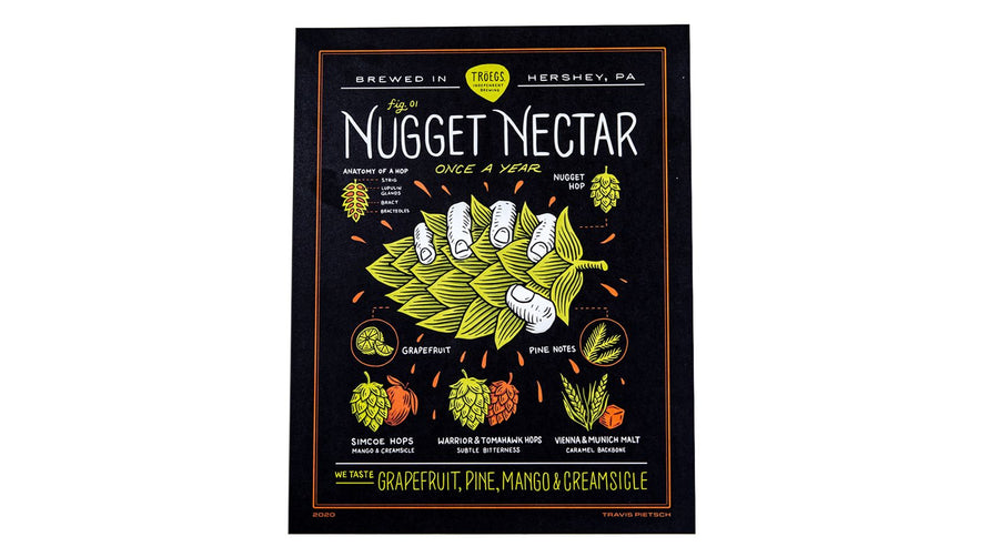 "Nugget Nectar 1st Squeeze 11"" x 14"" Print featuring art by Travis Pietsch"