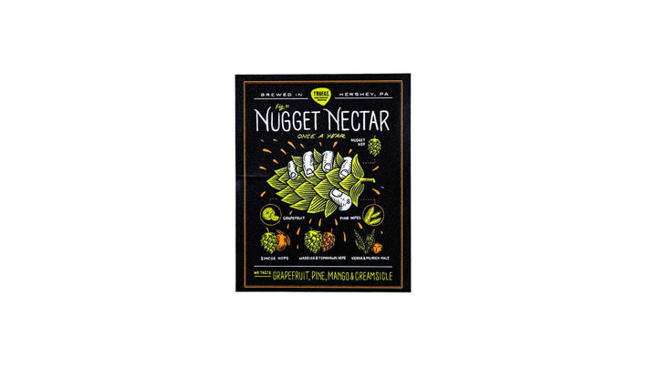 Nugget Nectar 1st Squeeze Sticker by Travis Pietsch