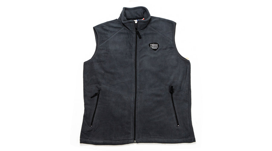 Tröegs Logo Grey Fleece Vest